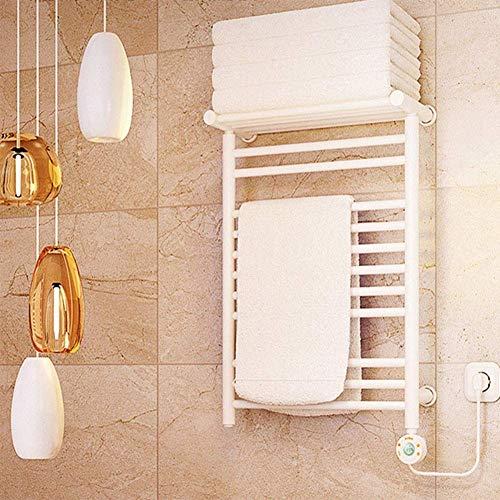 LHQ-QG Chauffe-serviettes Etendoir, mural 11 Bars plug-ins chauffants en acier inoxydable Porte-serviettes intégré mural Thermostat Convient for la cuisine salle de bain