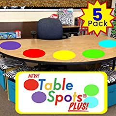 MADE FOR SAFE CLASSROOMS: Table Spots PLUS are designed to be used in classrooms were heavy disinfecting will take place during the 2020 school year (due to COVID-19). These dry erase circles can be sealed, removed, disinfected, and then resealed to ...