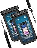Seneo Pochette Etanche Smartphone Housse Étanche Smartphone,Certifiée par IPX8 Pochette Téléphone Étanche pour Téléphone Jusqu'à 6.9 Pouces [ Lot de 2]