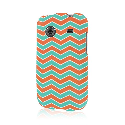 Empire MPERO SNAPZ Series Rubberized Case for ZTE Whirl Z660G - Retail Packaging - Mint Chevron