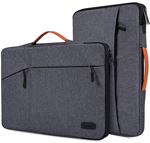 "CaseBuy 15.6 Inch Waterpoof Laptop Case Compatible with Acer Aspire 5 Slim/Aspire E 15/Chromebook 15, HP ENVY x360/OMEN/Pavilion 15, MacBook Pro 16 inch, 15.6"" Protective Notebook Briefcase Bag"