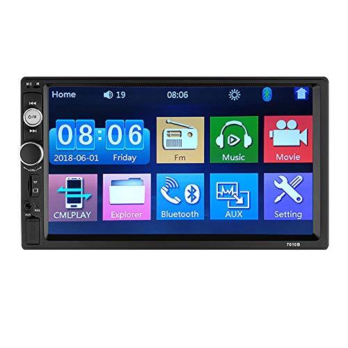 WYYHAA 2 DIN Autoradio Autoradio 7 Pollici Touch Screen HD Stereo dell'automobile Multimedia Player Auto di Sostegno USB Bluetooth di deviazione Standard Vista Posteriore Aux Telecomando