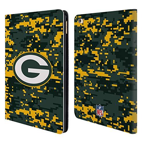 Head Case Designs Oficial NFL Camuflaje Digital Packers Green Bay 2018/19 Carcasa de Cuero Tipo Libro Compatible con Apple iPad Air 2 (2014)