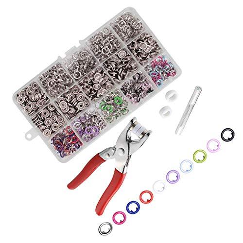 rongweiwang 9,5 mm de Metal Botones a Presión Sujetador alicates Prensa Tool Kit de Herramientas de Bricolaje Conjunto elaboración Coser niños botón Set