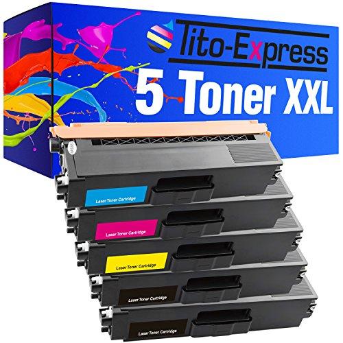 Tito-Express PlatinumSerie 5 Patronen XXL für Brother TN-325 DCP-9055CDN 9270CDN HL-4140CN 4150CDN 4570CDW 4570CDWT MFC-9465CDN 9460CDN 9560CDW 9970CDW | Black je 4.500 Seiten
