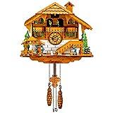 Kintrot Reloj de cuco Bosque negro Reloj de chalet Cuarzo Reloj de pared de madera...