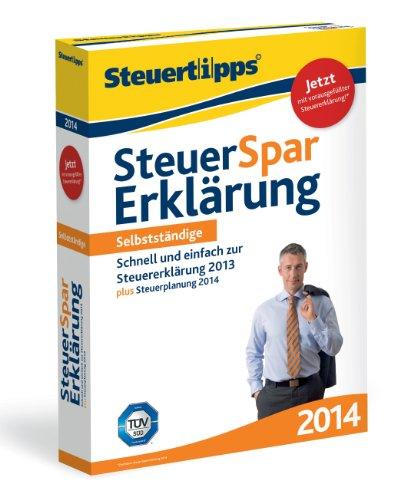 Steuer-Spar-Erklärung 2014 für Selbstständige (für Steuerjahr 2013)
