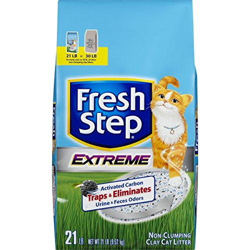 Fresh Step Extreme Clay, Non Clumping Cat Litter, Scented, 21 Pounds