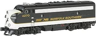 Bachmann Industries EMD F7-A Diesel Locomotive DCC Equipped Norfolk Southern Train Car, Black/Gray, N Scale