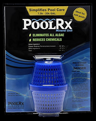 Pool RX 101001 6 Month Algaecide Blue Treats 7.5k-20k gallons, Single, Unit