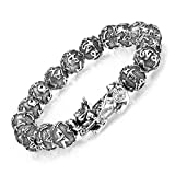ZenBless Feng Shui Bracelet 12mm Beads Large Size Bracelet for Men Single Silver Pi Xiu Pi Yao Attract Wealth Health and Good Luck