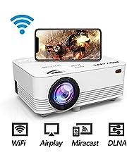 POYANK データプロジェクター 4000lm WiFi接続可 スマホと直接に繋がり 交換ケーブル不要【3年保証】1080PフルHD対応 スピーカーが二つ内蔵 パソコン/スマホ/タブレット/PS3/PS4/DVDプレイヤーなど接続可 標準的なカメラ三脚に対応可