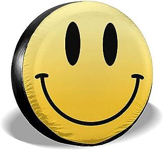 Hiram Cotton Spare Tire Cover Reserveradabdeckung Aus Polyester Eine Welt des Lächelns wasserdichte,Staubdichte Universal Reserveradabdeckung Für Jeeps,Suvs Und Viele Fahrzeuge