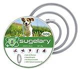 Sugelary Collar Antiparasitario para Mascotas Perros Plagas Repelentes para Mascotas Agregado con Aceites Naturales, Tamaño Ajustable e Impermeable, Detiene Mordeduras y Picazón (1)