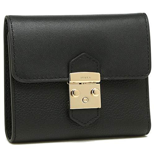 [フルラ]折財布 レディース FURLA 993268 PU28 OAV O60 ブラック [並行輸入品]