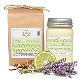 Aira Soy Candles - Organic, Kosher, Vegan, in Mason Jar w/ Therapeutic Grade...