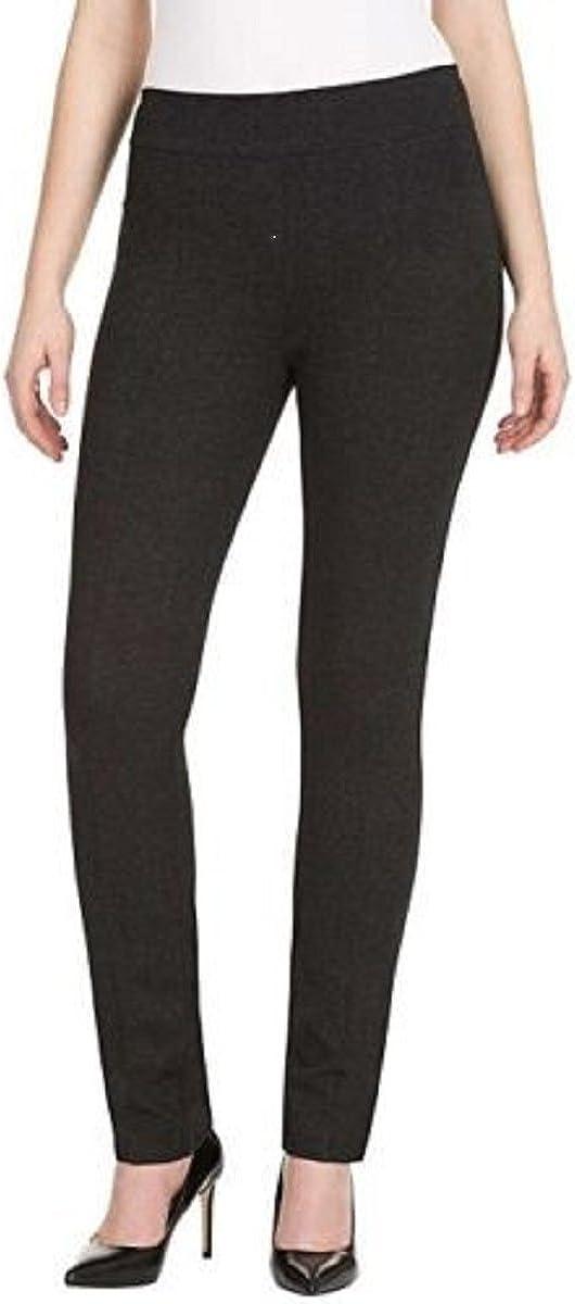 Hilary Radley Womens Straight Leg, Flat Front Dress Pant (Large, Navy)