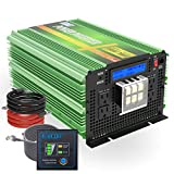 EDECOA 24V Pure Sine Wave Power Inverter 3500W Upgraded Model DC 24V to AC 110V 120V 4 AC Outlets and 1 Hardwire Terminal with LCD...