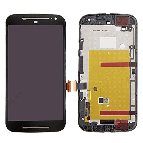 Motorola-Touchscreen 3 in 1 (LCD + Frame + Touch Pad) Digitizer-Baugruppe for Motorola Moto G2 (Schwarz) (Color : Black)