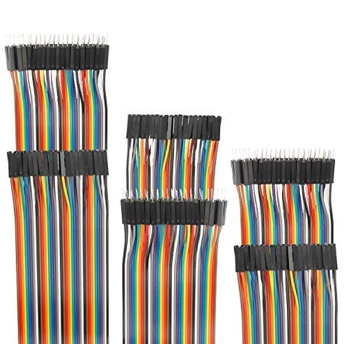 EDGELEC Dupont Jumper Breadboard Wire/Cables 3.9 inch (10cm) Male to Famale