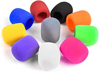 10 Stück Farben Handheld Bühnenmikrofon Windschutz Schaum Mikrofon Abdeckung