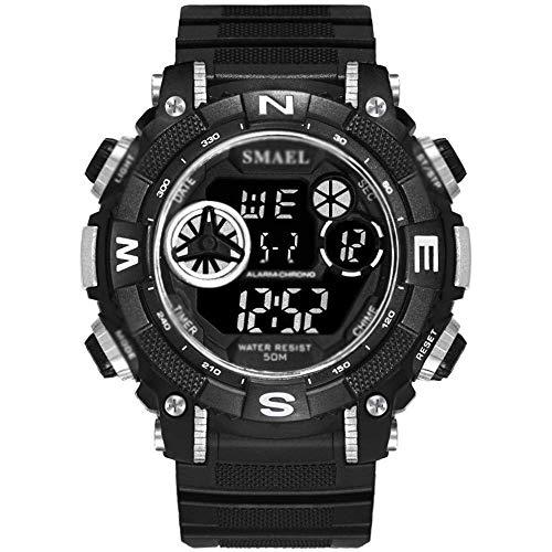 AYDQC Relojes for Deportes de los Hombres, la función Reloj Multi Deporte Militar, Despertador Digital a Prueba de Agua Relojes, con el Día Display, Pantalla Mes, Calendario A fengong (Color : B)