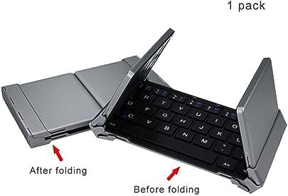 CAPTIANKN Wireless Folding Keyboard  Tri-Fold Bluetooth Keyboard  geeignet f r IOs Windows Android Tablet  Smart Phone  Laptop  Etc Black