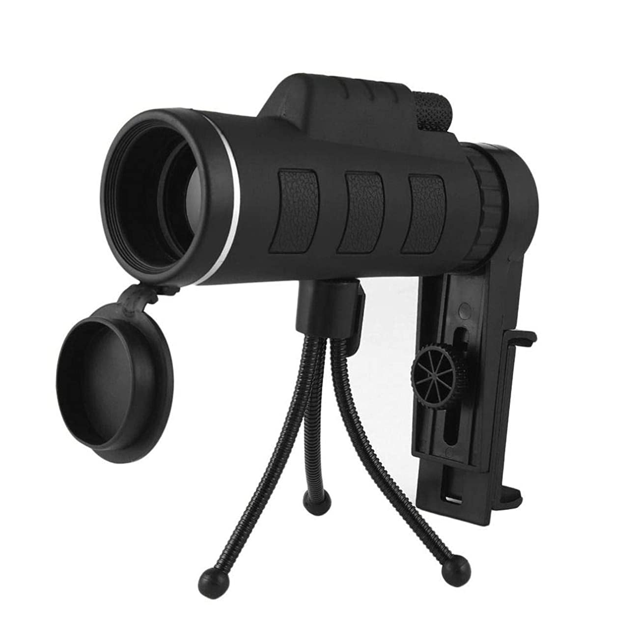 High Definition 40X60 Zoom Focus Outdoor Mobile Optical Lens Monocular Telescope with Compass Phone Clip and Tripod for Mobile Phone Night Vision Waterproof (Telescope+ Phone Holder+Tripod)