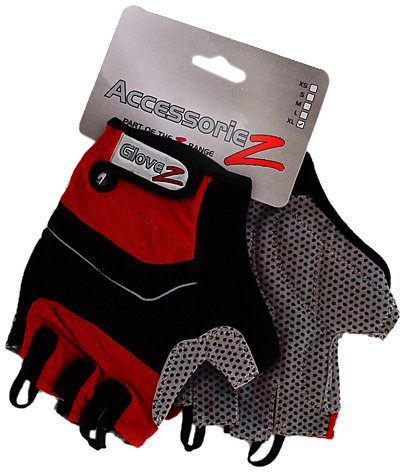 Accessoriez Kinder Fingerlose Fahrradhandschuhe rot rot xs