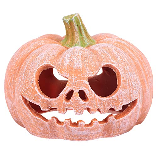 Baluue - Figura de calabaza de Halloween con forma de calabaza para casa de reptiles, reptiles, escondite para escorpión, serpiente, lagarto, 1 unidad