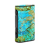 MightySkins Skin Compatible with Eleaf iStick Power 80W - Teal Marble | Protective, Durable, and Unique Vinyl Decal wrap Cover | Easy to Apply, Remove, and Change Styles | Made in The USA