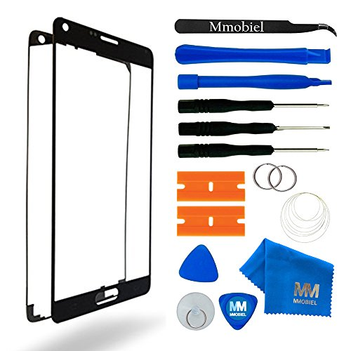 MMOBIEL Front Glass Replacement Compatible with Samsung Galaxy Note 5 N920 (Black) Display Touchscreen incl Tool Kit