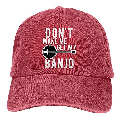 Dyfcnaiehrgrf Don't Make Me Get My Banjo - Gorra de béisbol unisex lavable para entrenamiento, sombrero para hombre, color rojo
