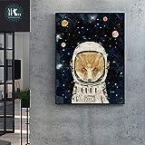 oioiu Cartoon Superheld Wandkunst Leinwand und Druck Raum Junge Krieger Spielzimmer Film Tier Anime Poster Wandbild Kindergarten Kinderzimmer Dekoration Geschenk Raum Helm