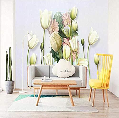 ZZXIAO Papel tapiz con efecto 3D para S Flower For Home Escritorio gratis Arte de pared grande Murales de pared para niños Decoración Fotomural sala Pared Pintado Papel tapiz no tejido-430cm×300cm