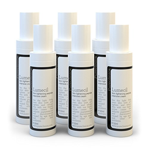 Lumecil Skin Lightening Cream 50ml x 6 bottles. From brown to white with the most effective and No.1 rated skin whitening solution. Achieve many shades lighter/whiter. SKU: LSRx6