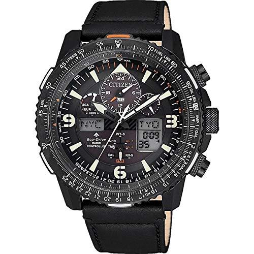 Citizen Reloj Digital analógico para de los Hombres de Eco-Drive con Correa en Cuero JY8085-14H