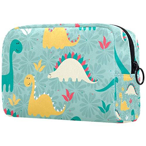 Make-up-Tasche mit Dinosaurier-Motiv, Kulturbeutel für Damen, Hautpflege, Kosmetik, Handtasche mit Reißverschluss