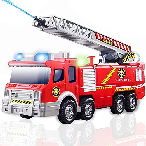 Giocattolo Camion dei Pompieri con Acqua, luci e Suoni - Modello Realistico di Camion dei Pompieri per Ragazze con Bambini Piccoli e Bambini Ragazzi Ragazze età 3 4 5 Regali di 6 Anni