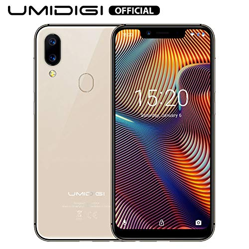 UMIDIGI A3 Pro Smartphone ohne Vertrag günstig 5.7 Zoll Notch Display, Android 9, 5G WiFi Handy 3GB+32GB ROM(256GB erweiterbar), Benachrichtigung LED, Global Version, Dual SIM, 12MP+5M Kamera, Gold