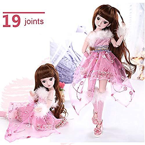 ZNDDB Reborn Baby doll 23,6-Zoll-60cm super realistische Prinzessin, kann Sich verkleiden