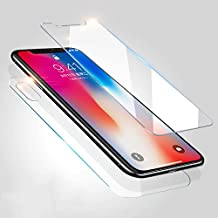 RONSHIN 2 Pcs Front + Back Tempered Glass Screen Protector Ultra Clear HD Anti-Scratch for iPhone X Electronic Accessories