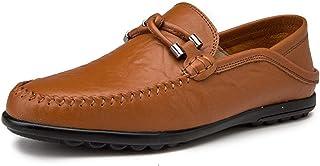 DADIJIER Mocassins De Conduite pour Homme Mocassins Bateau Slip on Style Ox Cuir Metaldecor Doux Bas Chaussures Anti-dérap...