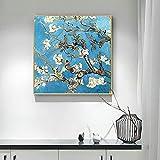 Arte abstracto nórdico Van Gogh Floral Wall Art Canvas Painting Living Room Posters e impresiones Decoración para el hogar Obra de arte Imagen 65X65cm (25.6x25.6in) Sin marco