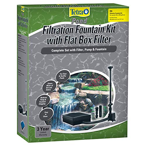 TetraPond Filtration Fountain Kit, Includes 3 Fountain Attachments, 75 to 250 Gallons