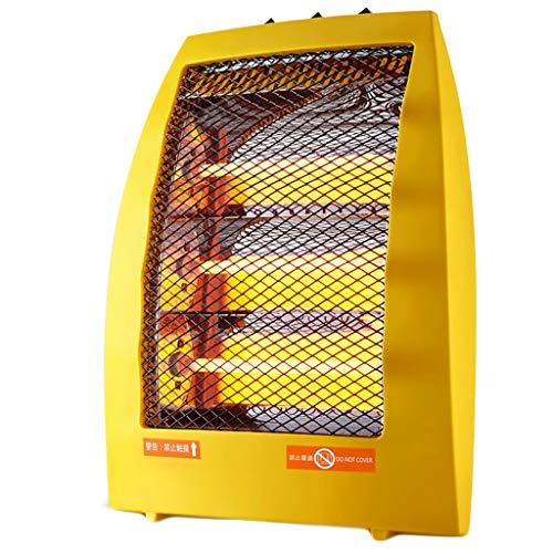 LTLJX Radiador Halógeno, Estufa de Cuarzo Termoventiladoresde Tres Barras Calentador Regulable 3 Calor Protección Antivuelco
