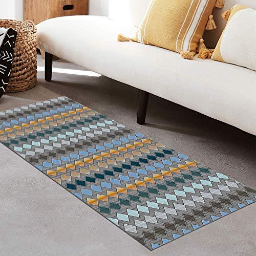 QIANGZI Alfombra de pasillo antideslizante por metros, de poliéster negro, no se decolora, para cocina, para dormitorio, pasillo y pasillo (tamaño: 120 x 150 cm, color: uno)