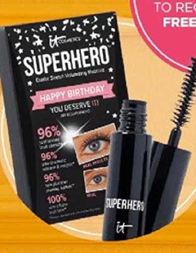 It Cosmetics Superhero Elastic Stretch Volumizing Mascara Black Mini by It Cosmetics