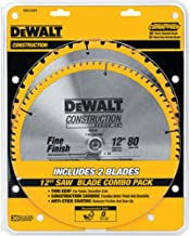 Dewalt Accessories DW3128P5 12-Inch Construction Combination Circular Saw Blade Pack