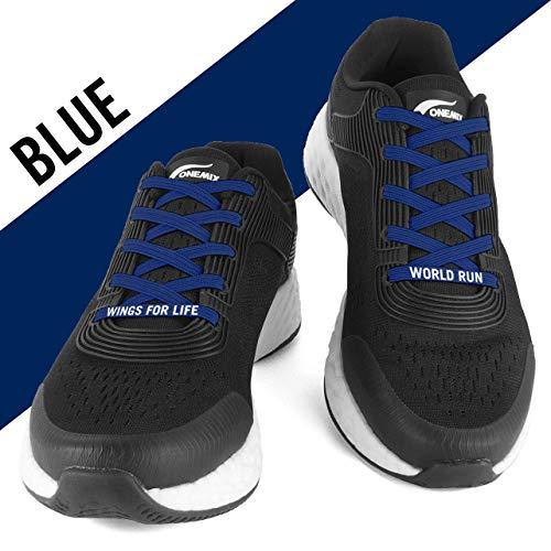 FLEXILACES - elastische Schnürsenkel | nie Wieder Schuhbänder binden - Nacht-Blau (Wings for Life - Spendenedition)